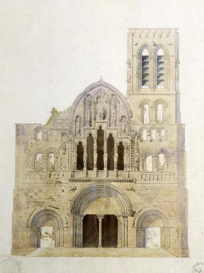 Vezelay-viollet-le-duc-sketch